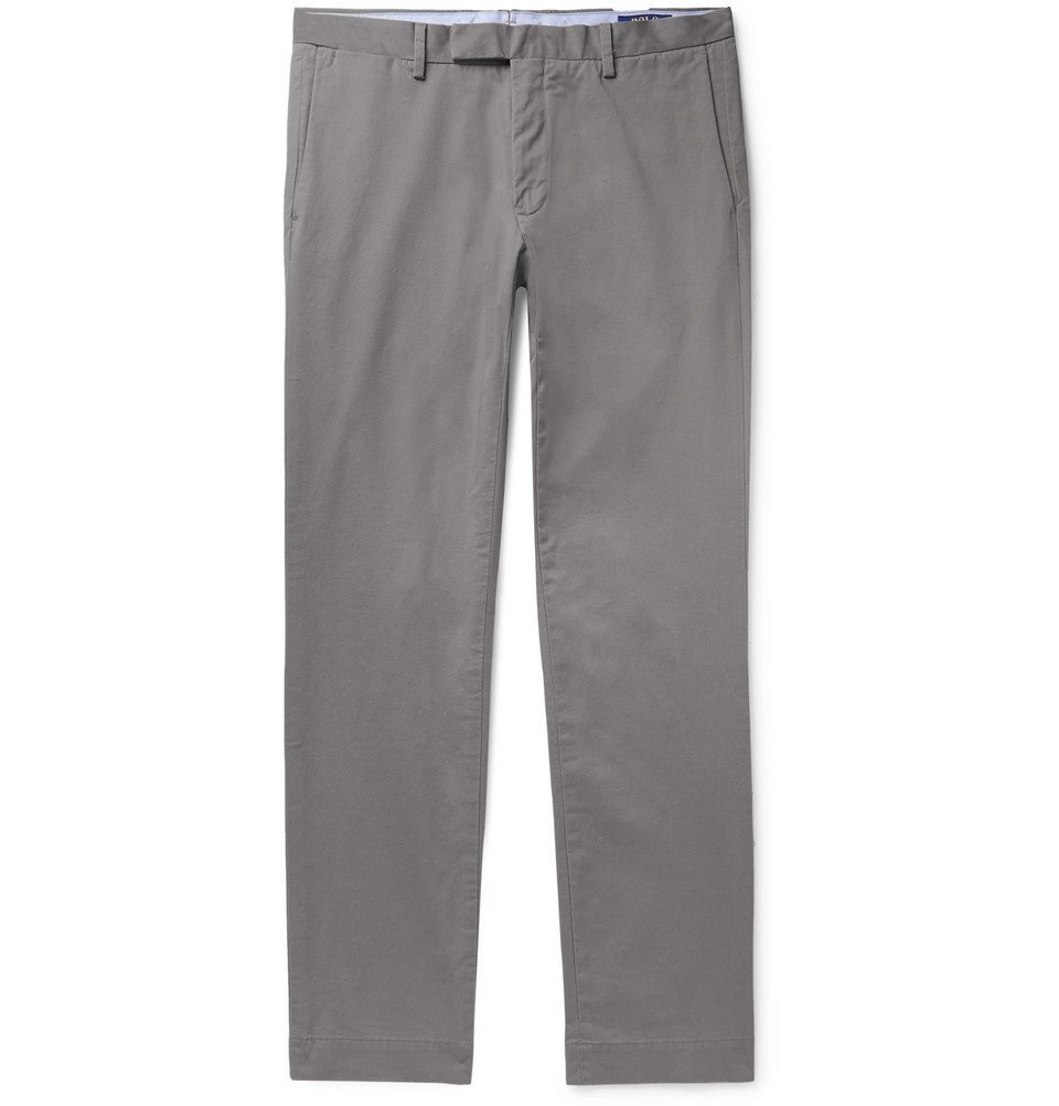Photo: Polo Ralph Lauren - Slim-Fit Tapered Cotton-Blend Twill Chinos - Stone