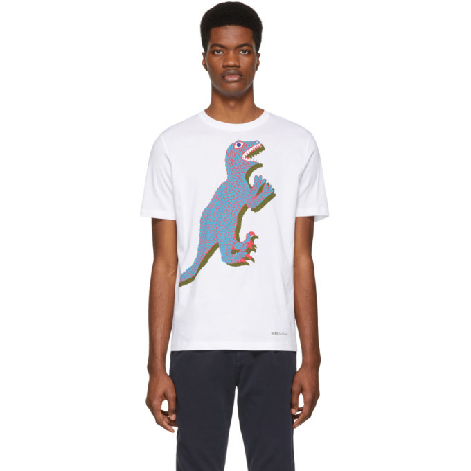 Photo: PS by Paul Smith White Dino Regular Fit T-Shirt