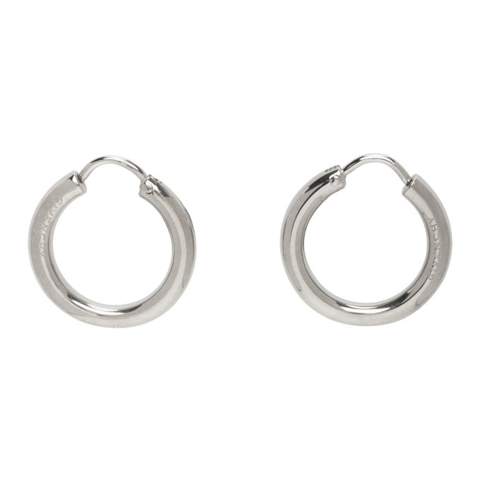 Photo: Givenchy Silver Pierced Hoop Earrings
