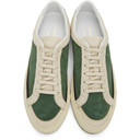 Common Projects Off-White and Green Retro G Sneakers