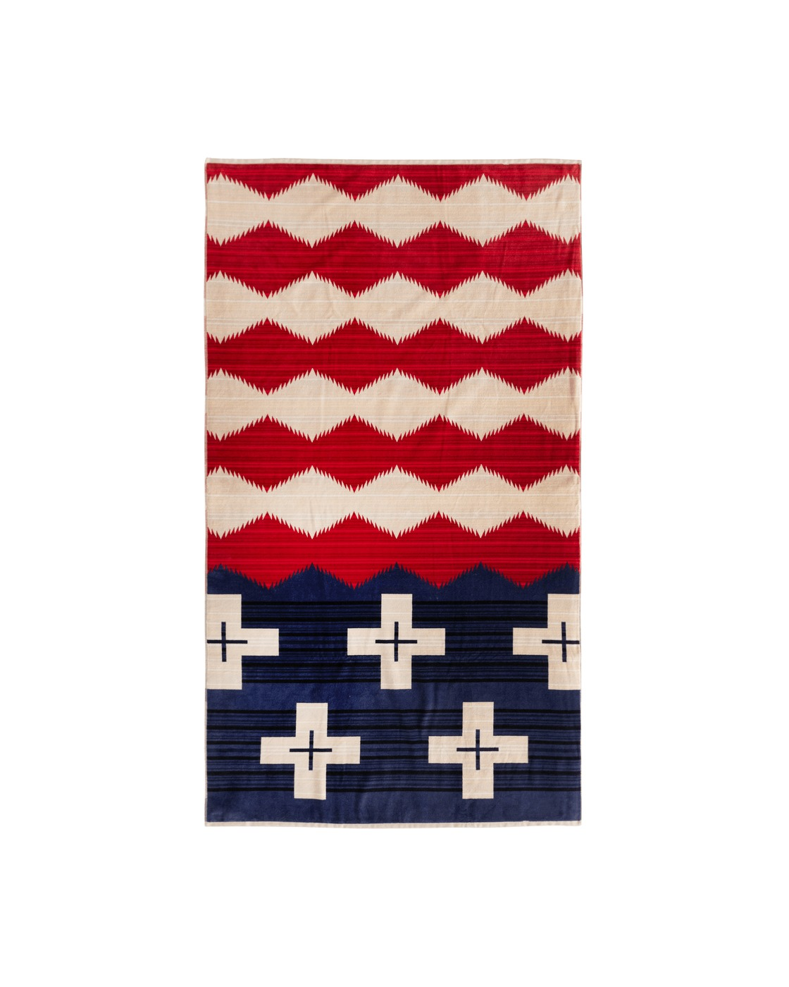 Photo: Pendleton Brave Star Spa Towel Brave Star Red, White & Blue