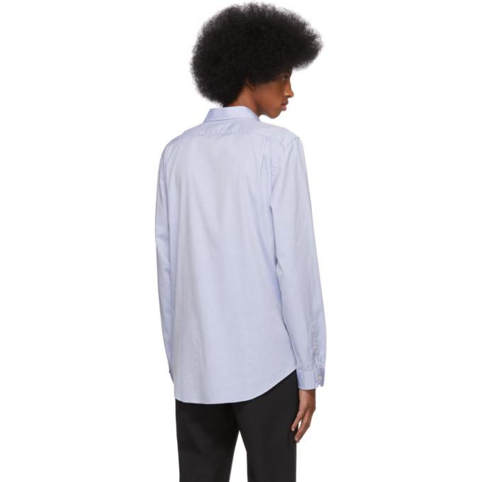 PS by Paul Smith Blue Oxford Zebra Shirt
