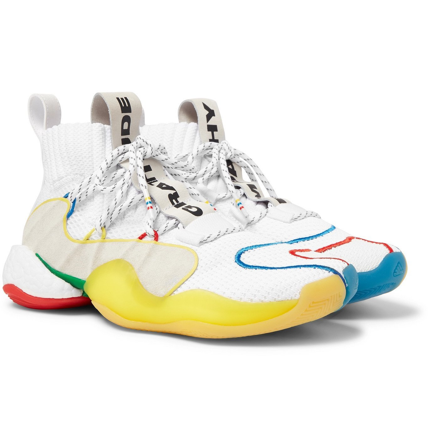 Photo: adidas Consortium - Pharrell Williams Crazy BYW LVL X Mesh Sneakers - White