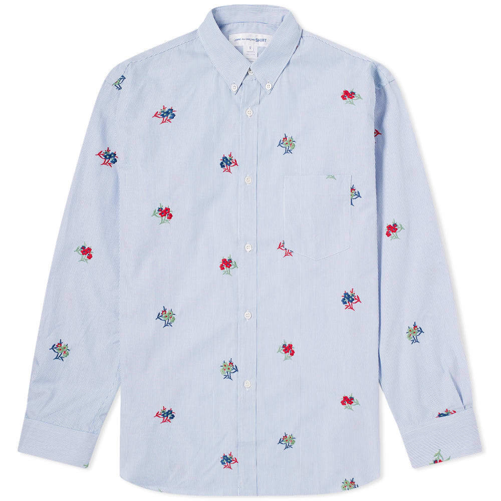 Photo: Comme des Garcons SHIRT Button Down Embroidered Shirt