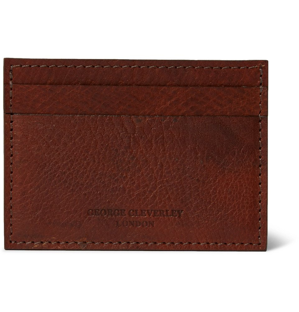 Photo: George Cleverley - 1786 Russian Hide Cross-Grain Leather Cardholder - Brown