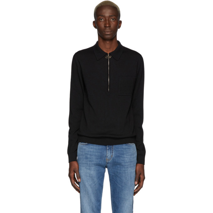 Photo: CMMN SWDN Black Curtis Zip Polo