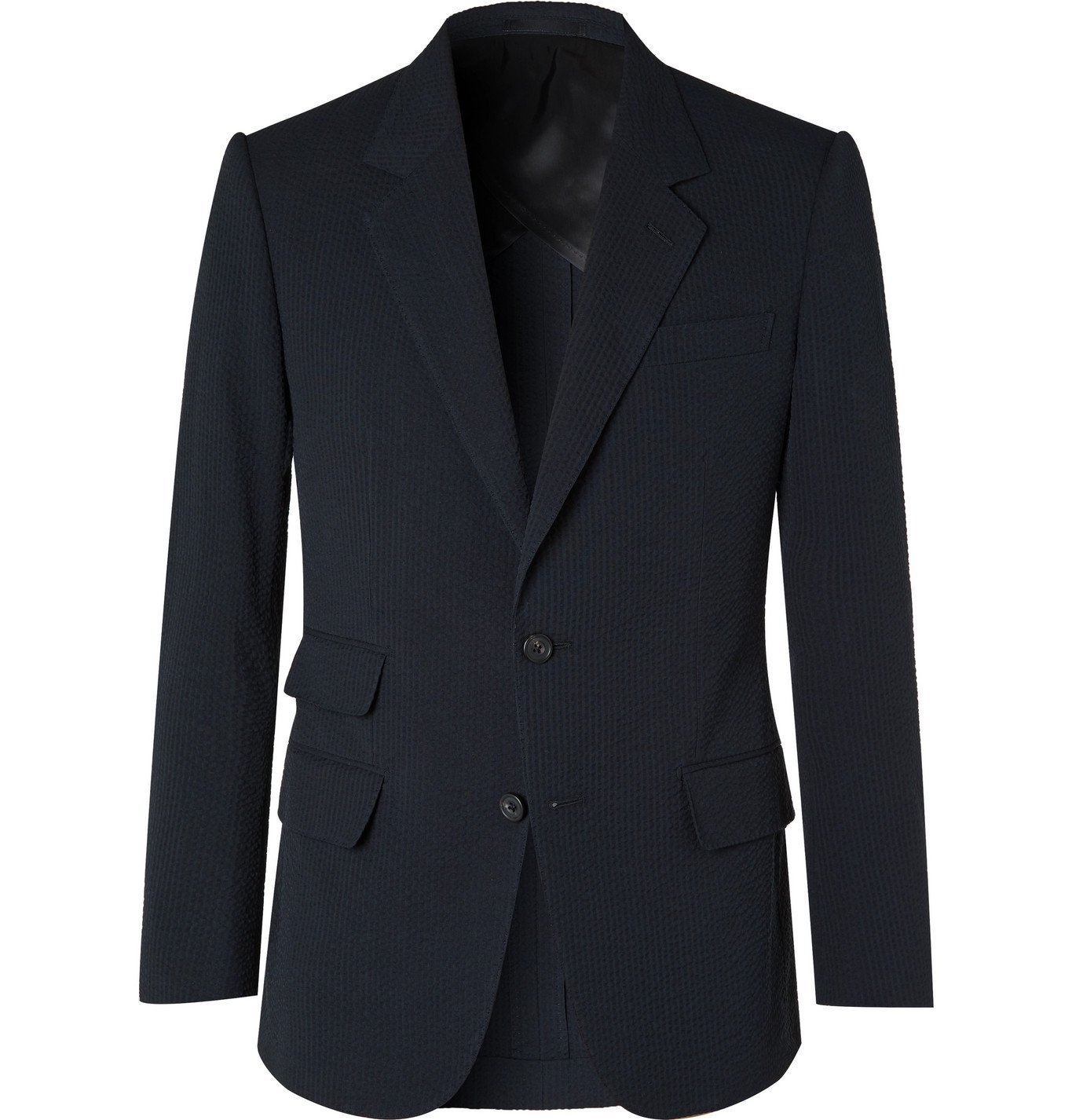 Photo: Kingsman - Cotton-Seersucker Suit Jacket - Blue