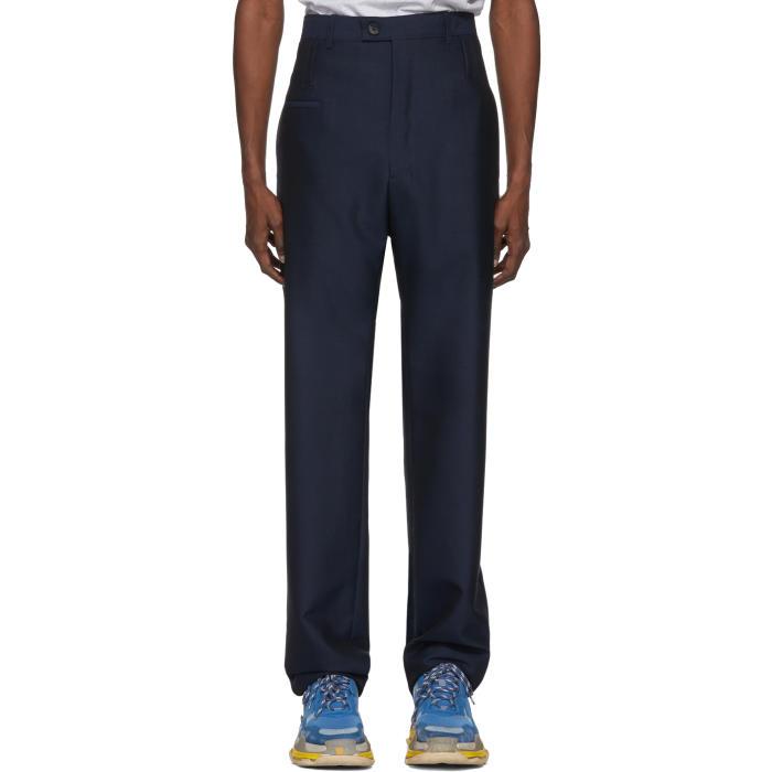 Photo: Balenciaga Blue Double Belt Trousers