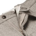 Saman Amel - Beige Tapered Pleated Mélange Wool Suit Trousers - Neutrals