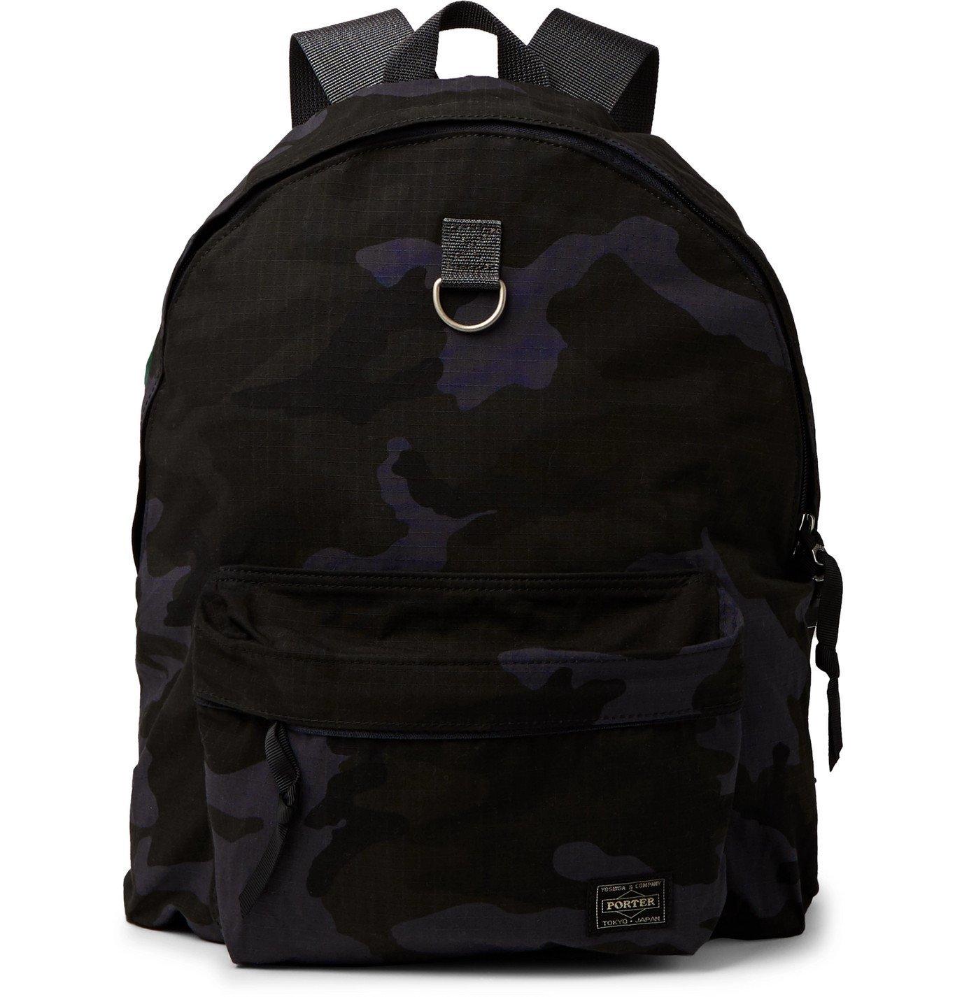Photo: Porter-Yoshida & Co - Camouflage-Print Cordura® Nylon and Cotton-Ripstop Backpack - Blue