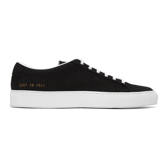 Common Projects Black Premium Achilles Sneakers