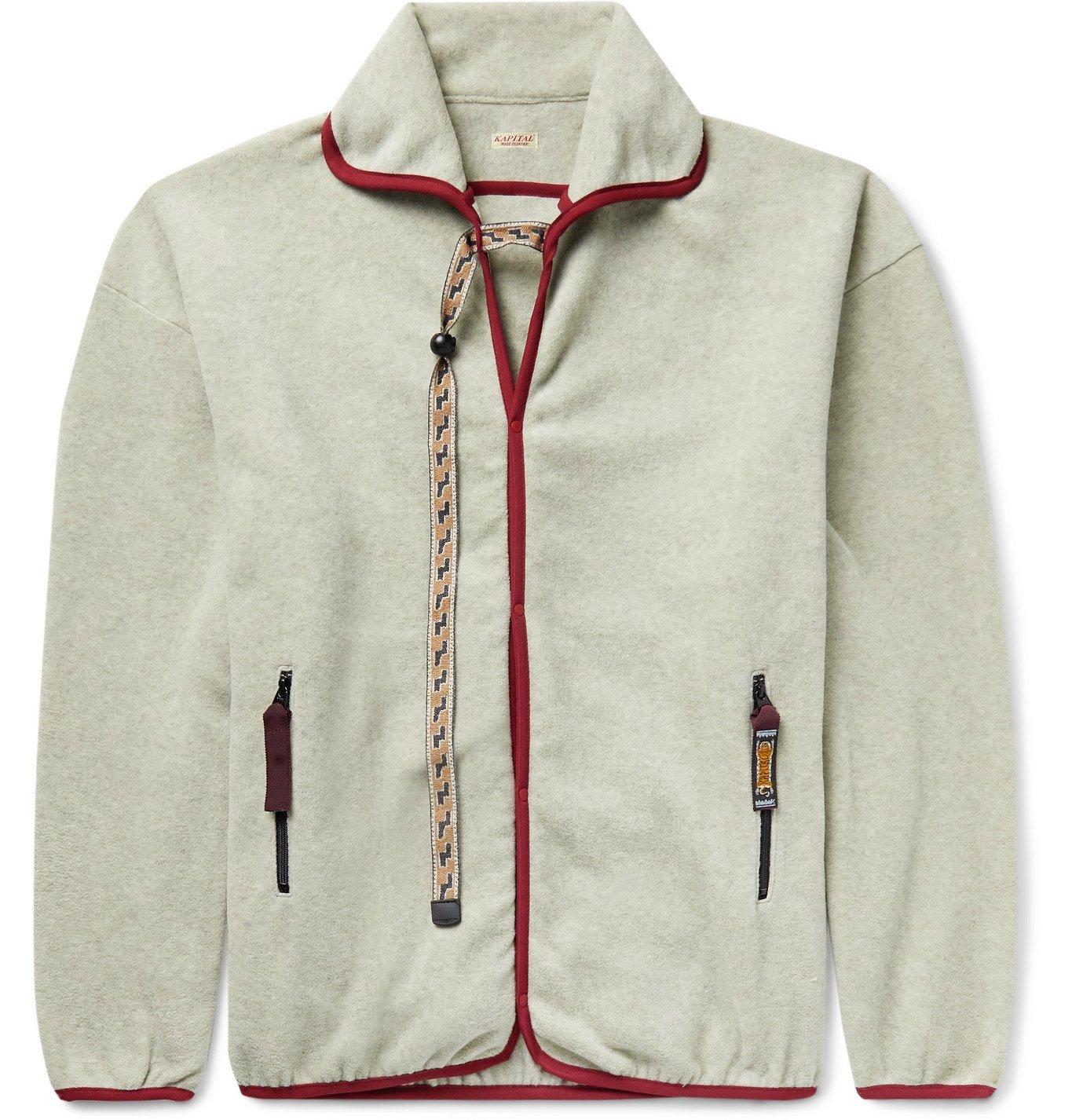 Photo: KAPITAL - Kettle Mélange Fleece Jacket - Neutrals