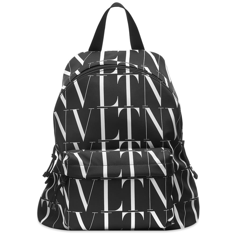 Photo: Valentino VLTN All Over Print Canvas Backpack