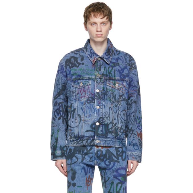 Photo: VETEMENTS Blue Denim Graffiti Jacket