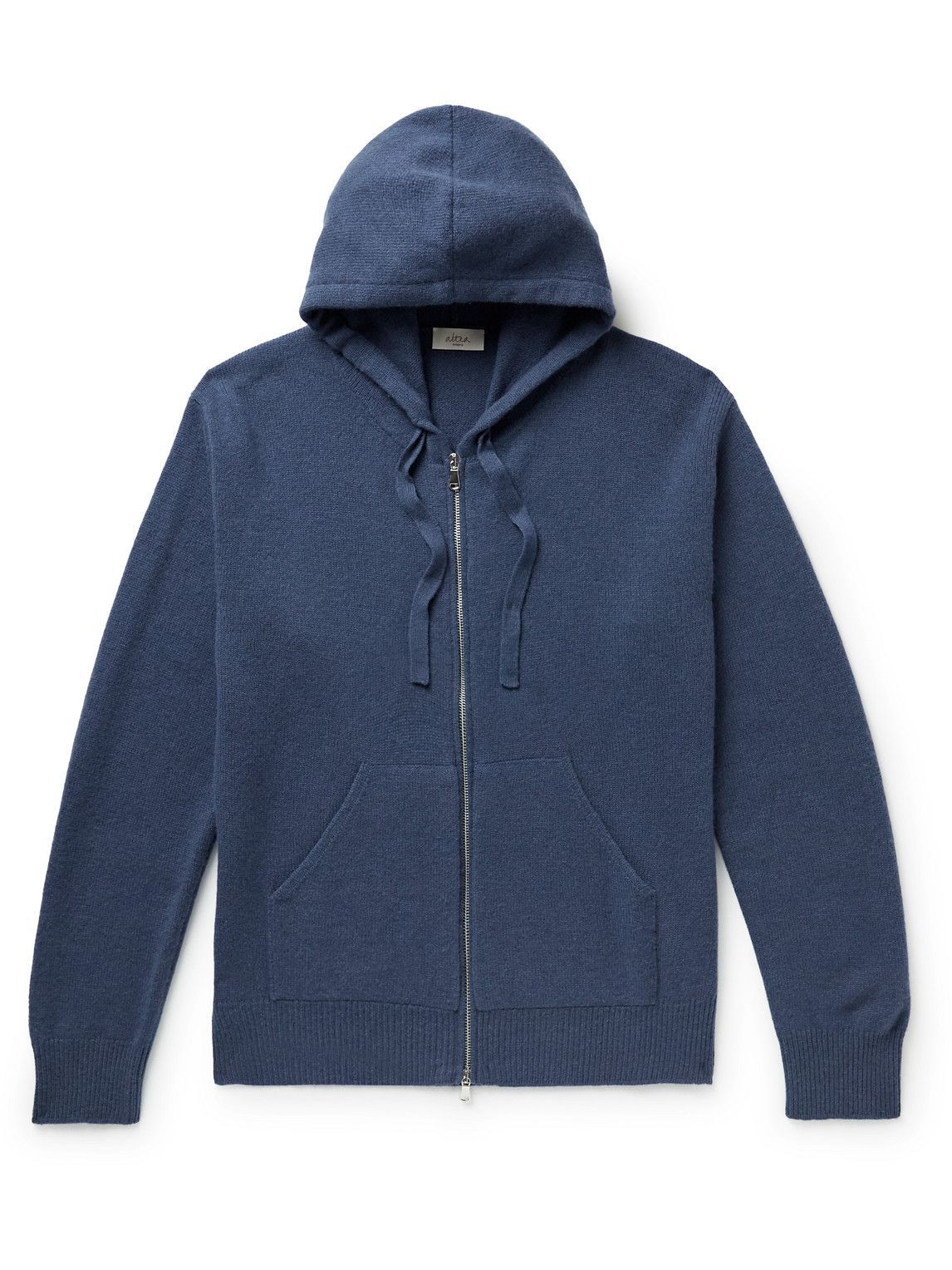 Photo: Altea - Wool and Cashmere-Blend Zip-Up Hoodie - Blue