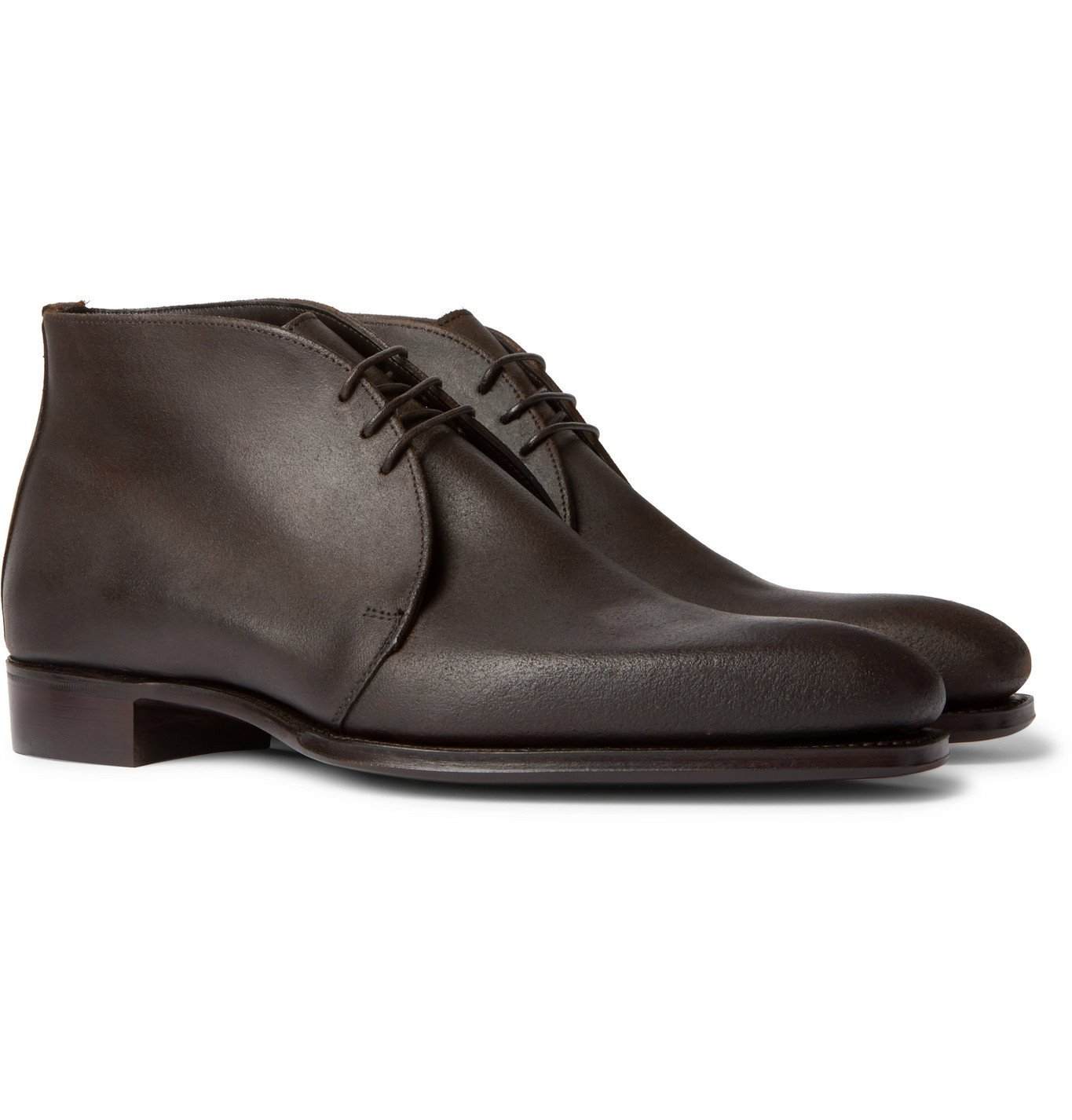 Photo: Kingsman - George Cleverley Suede Chukka Boots - Brown