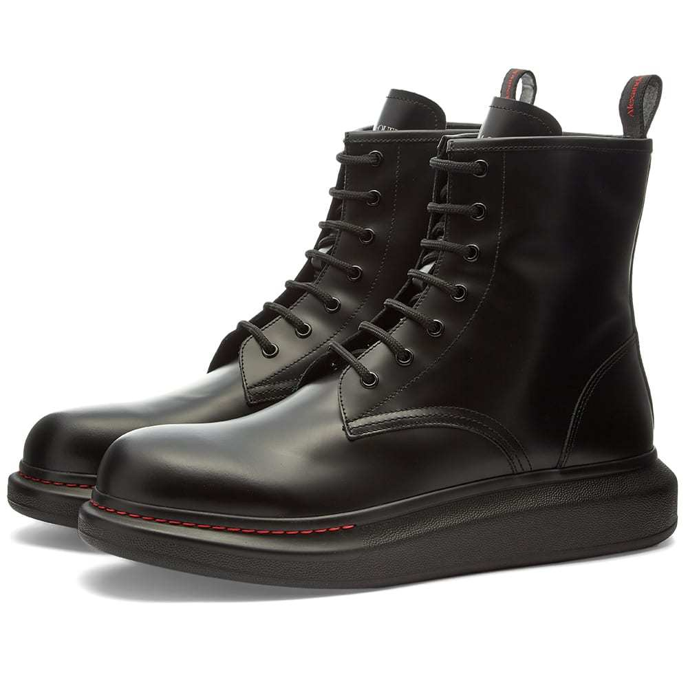 Photo: Alexander McQueen Leather Wedge Sole Lace Up Boot