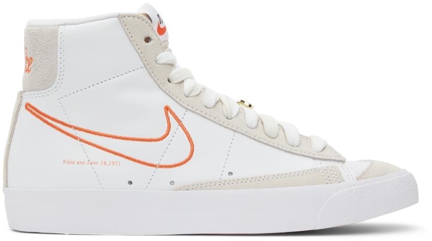 Photo: Nike White Blazer Mid '77 SE Sneakers