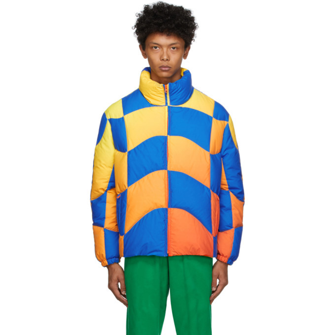 Photo: ERL Blue and Yellow Down Ski Jacket