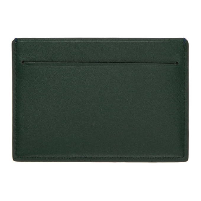 PS by Paul Smith Green and Navy Colorblock Card Holder