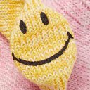 KAPITAL - Smiley Striped Cotton and Hemp-Blend Socks - Pink