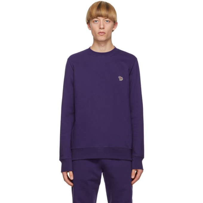 Photo: PS by Paul Smith Purple Zebra Sweatshirt