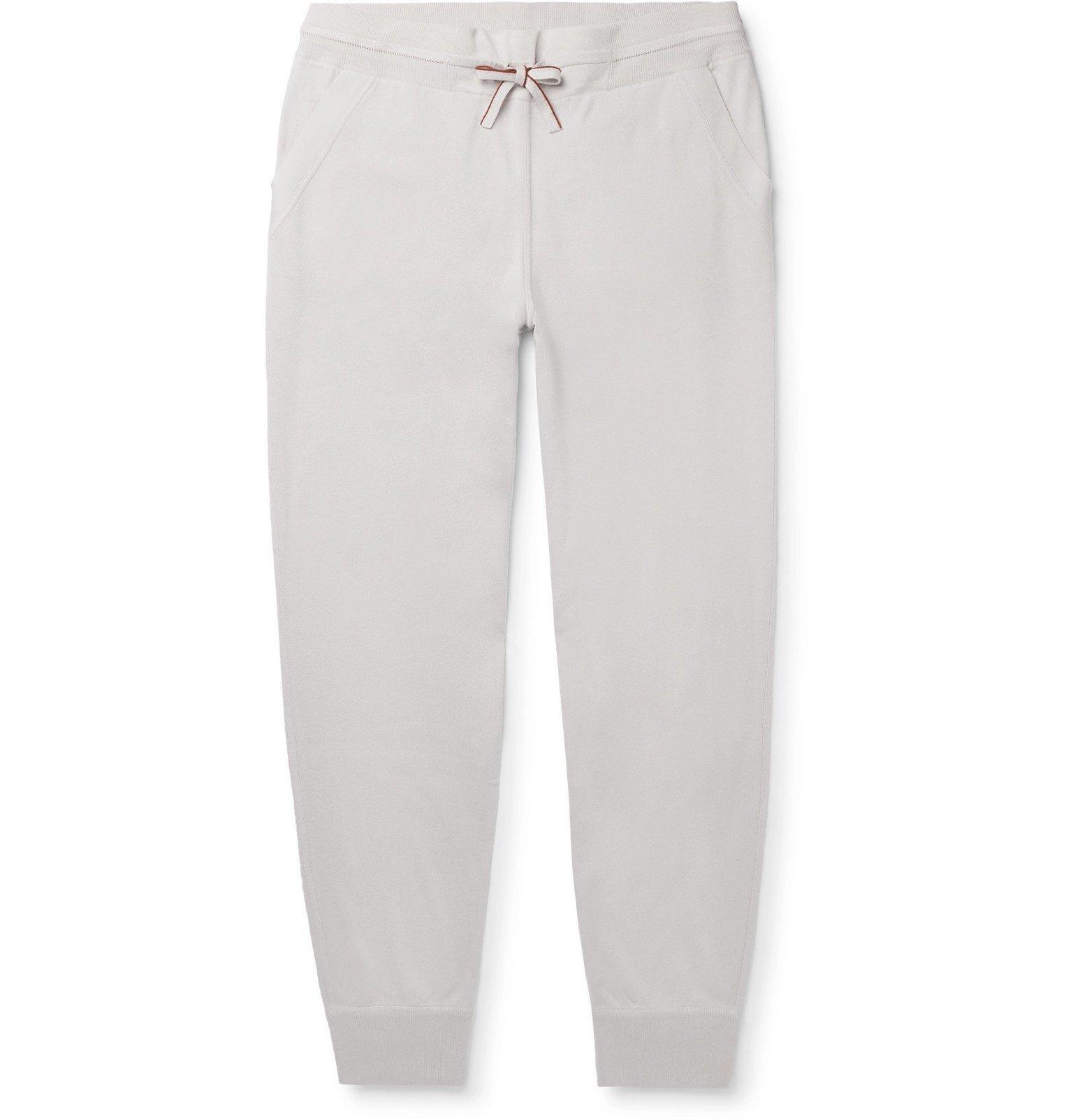 Photo: Loro Piana - Portland Tapered Mélange Cashmere and Silk-Blend Sweatpants - Gray
