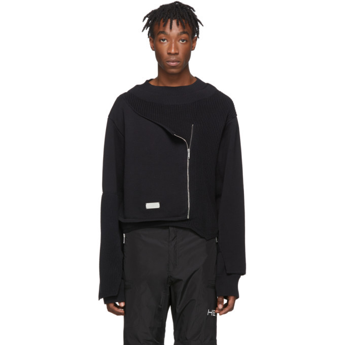 Photo: Heliot Emil Black Knit Deconstructed Sweater