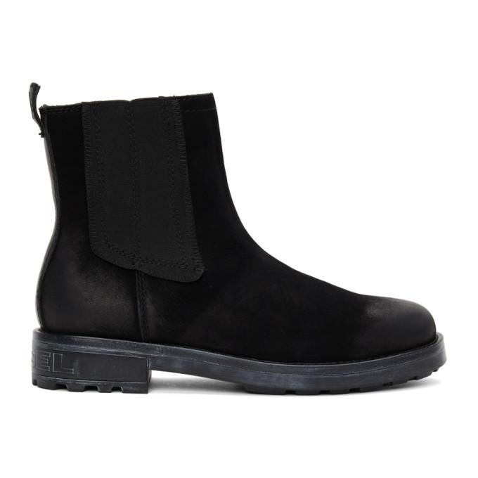 Photo: Diesel Black D-Throuper CB Chelsea Boots