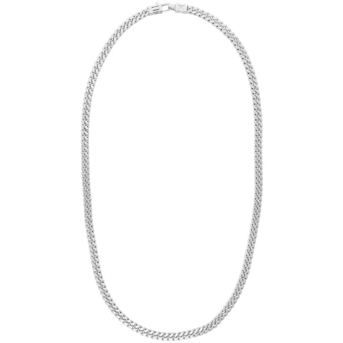 Photo: Tom Wood Silver Curb Chain L Necklace