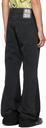 Raf Simons Black Flared Workwear Jeans
