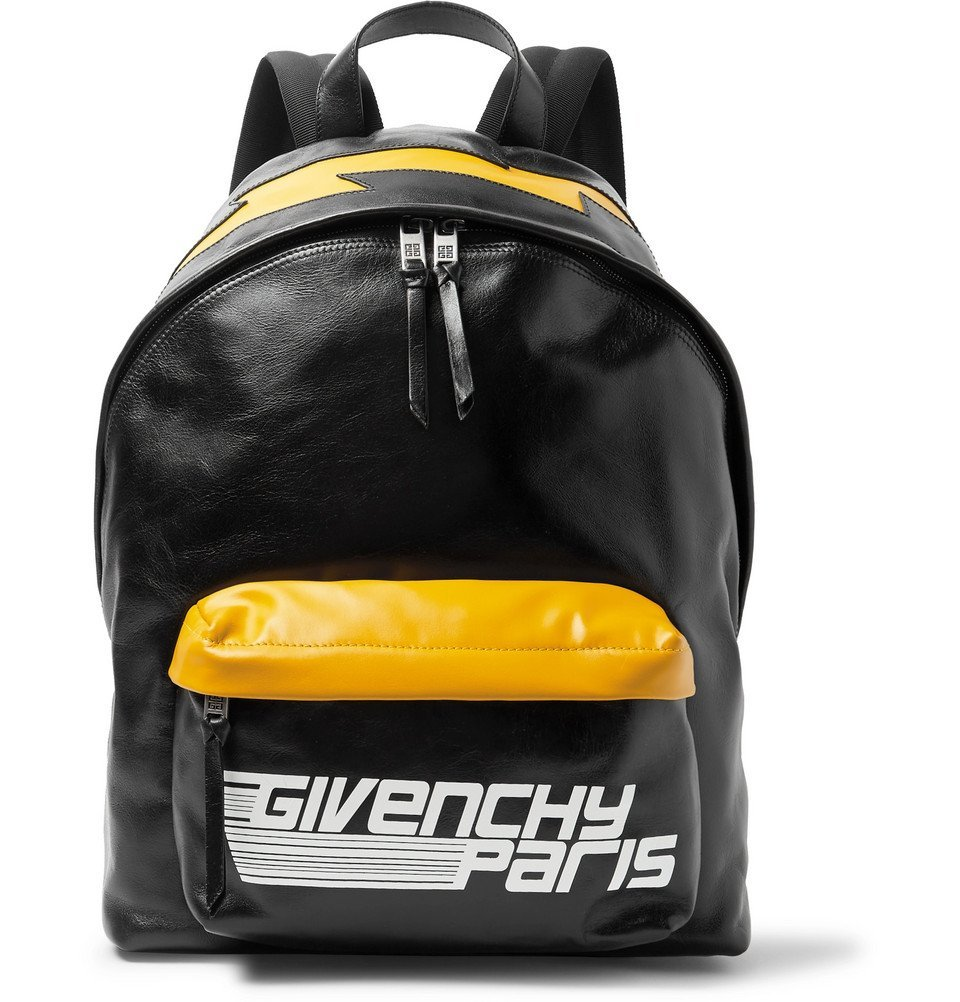 Photo: Givenchy - Logo-Print Leather Backpack - Men - Black