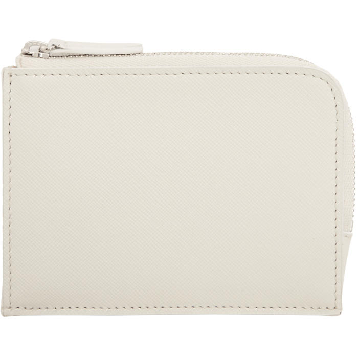 Common Projects White Zipper Wallet