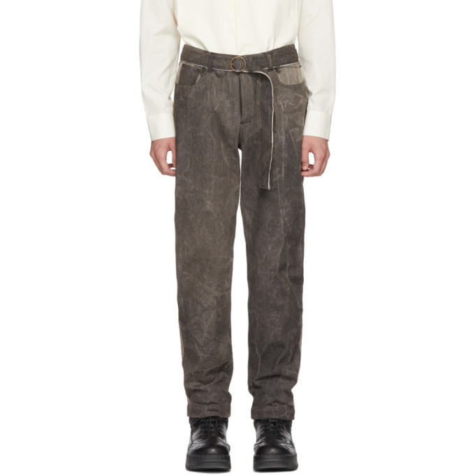 Photo: St-Henri SSENSE Exclusive Grey and Black Garage Jeans