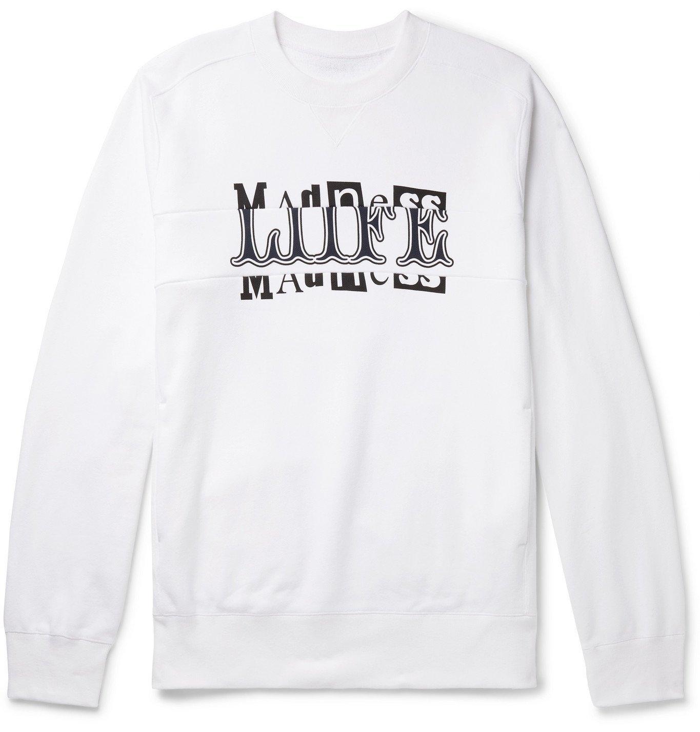 Photo: Sacai - Hank Willis Thomas Printed Loopback Cotton-Jersey Sweatshirt - White
