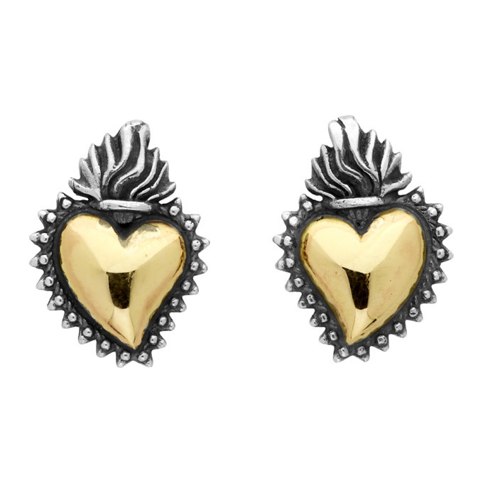 Photo: Ugo Cacciatori Silver and Gold Ex Voto Stud Earrings