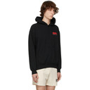EDEN power corp Black and Red Recycled Cotton Logo Hoodie