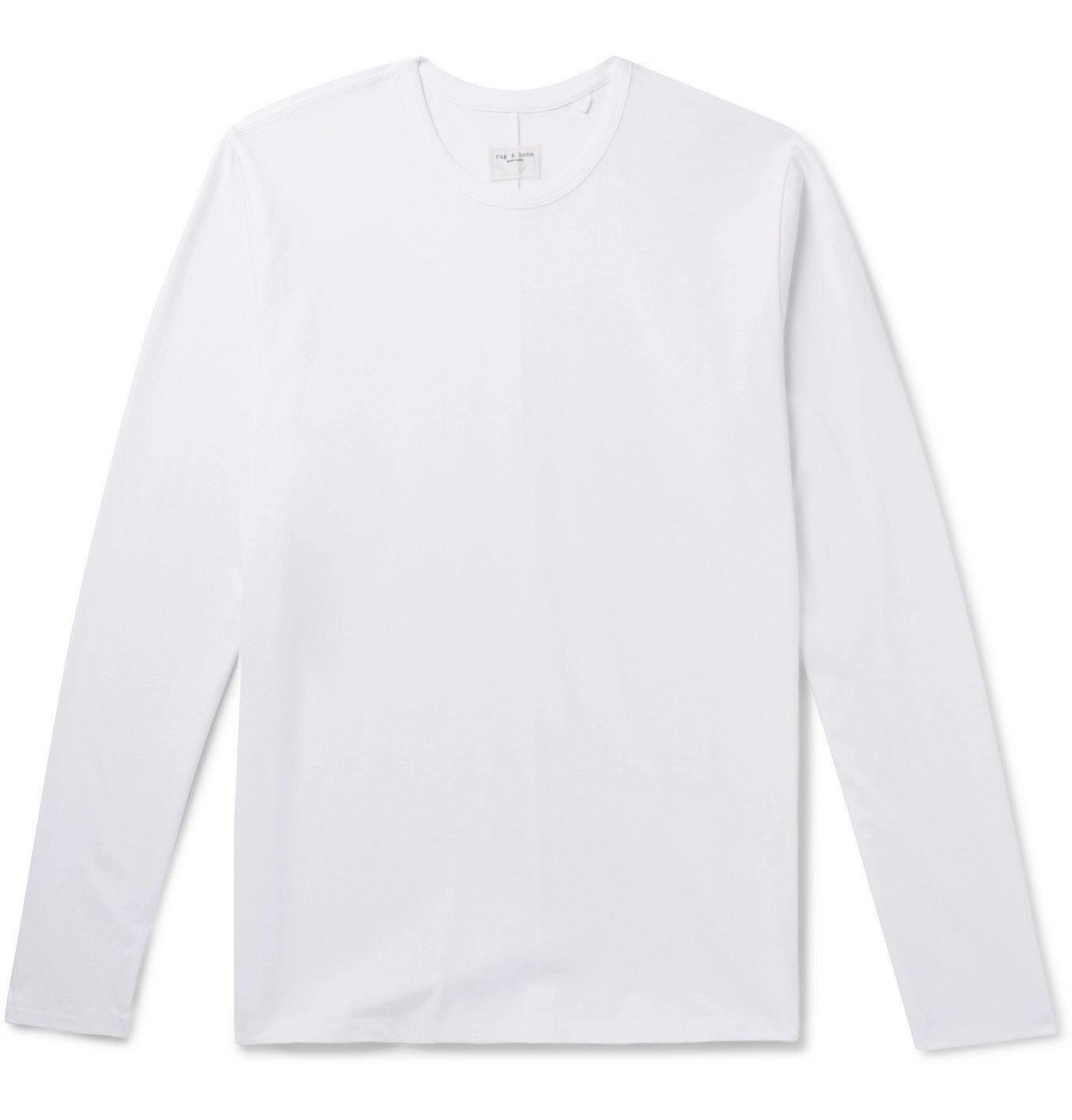Photo: rag & bone - Organic Cotton-Jersey T-Shirt - White