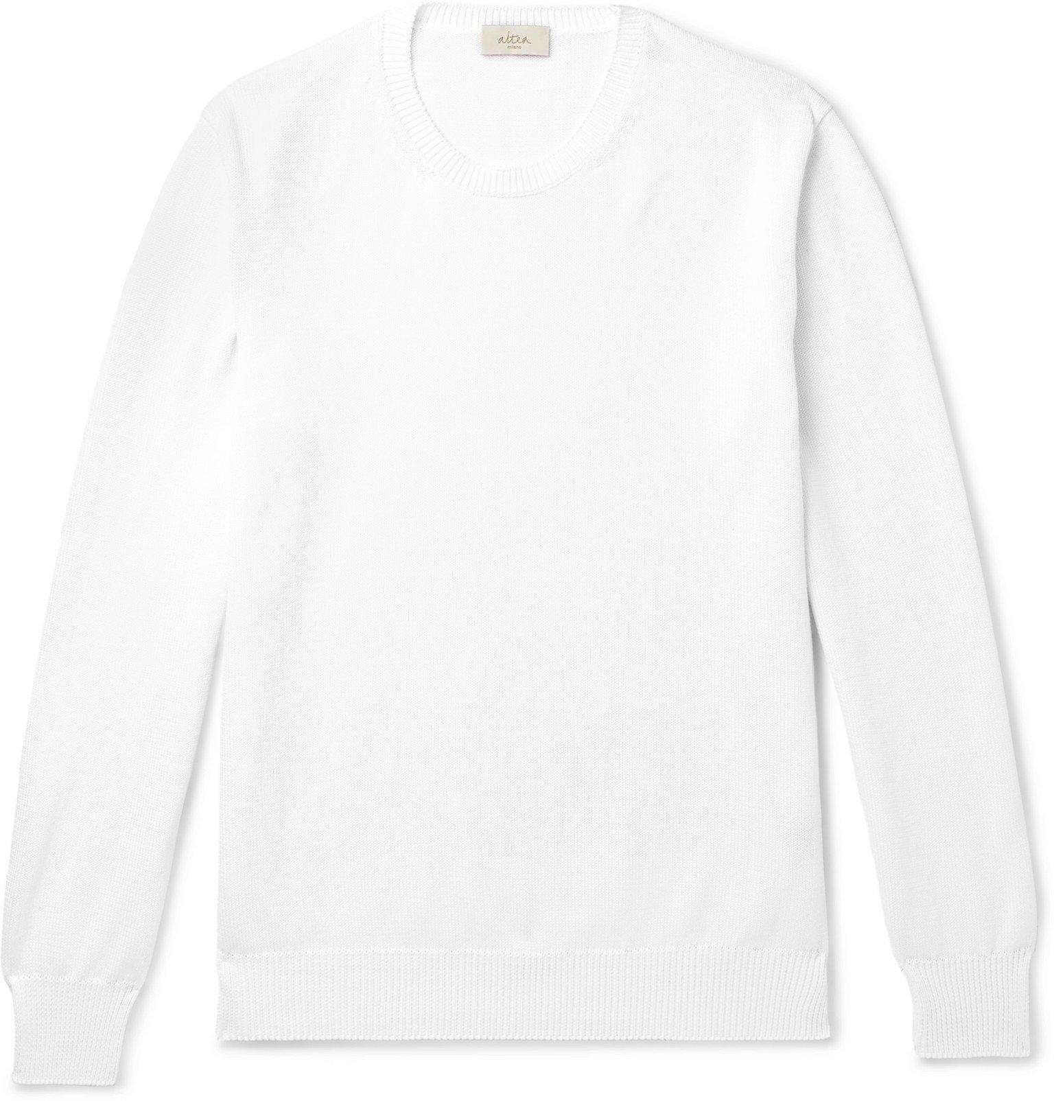 Photo: Altea - Ribbed Cotton Sweater - White