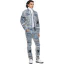 1017 ALYX 9SM Blue and Beige Blackmeans Edition Denim Jacket