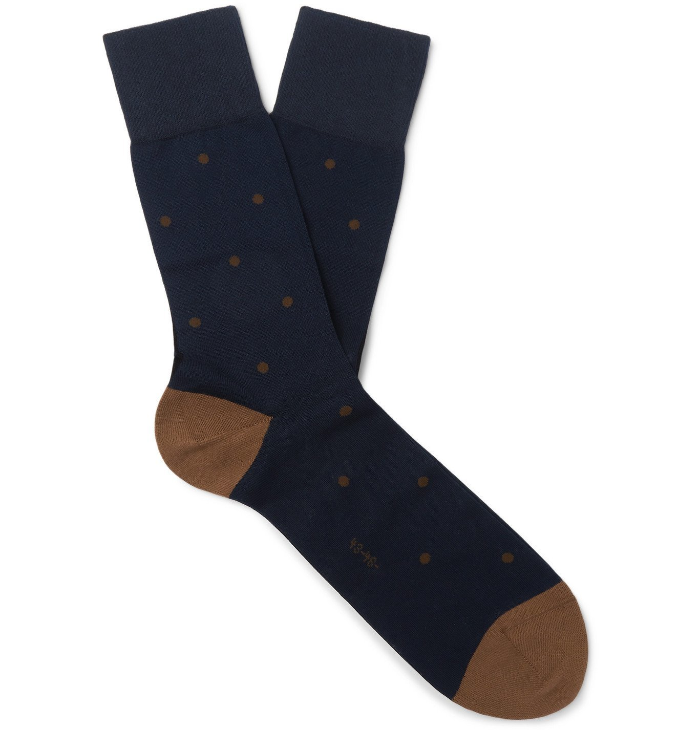 Photo: FALKE - Polka-Dot Fil d'Ecosse Cotton-Blend Socks - Blue
