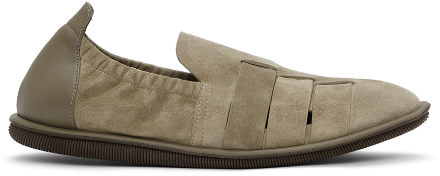 Photo: Giorgio Armani Beige Perforated Loafers