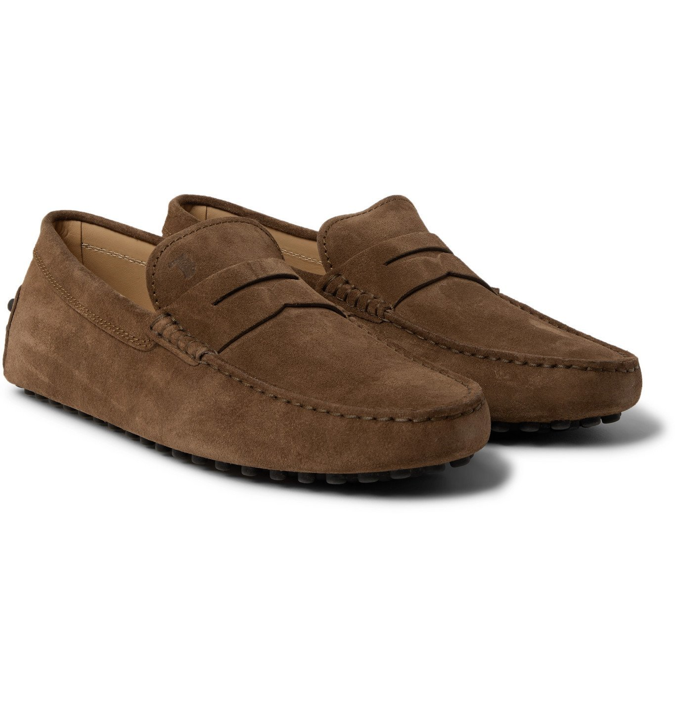 Photo: Tod's - Gommino Suede Driving Shoes - Brown