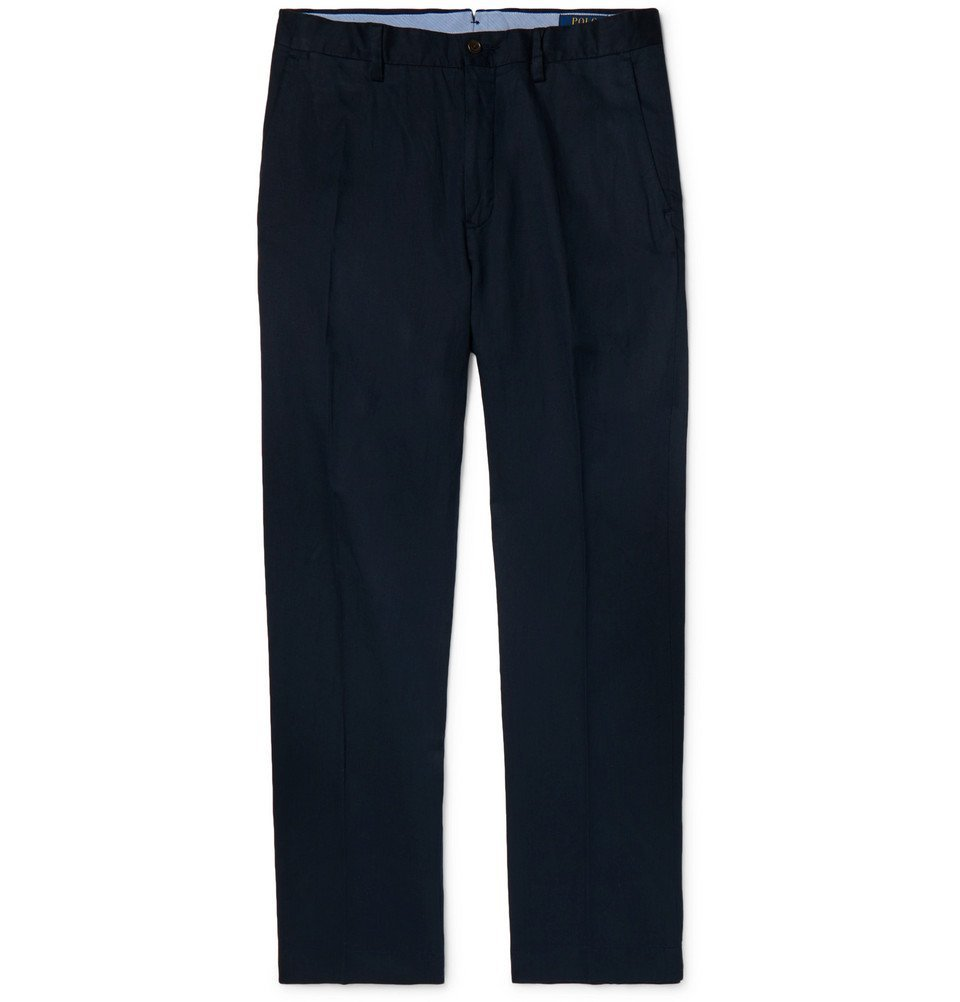 Photo: Polo Ralph Lauren - Navy Linen, Lyocell and Cotton-Blend Trousers - Navy