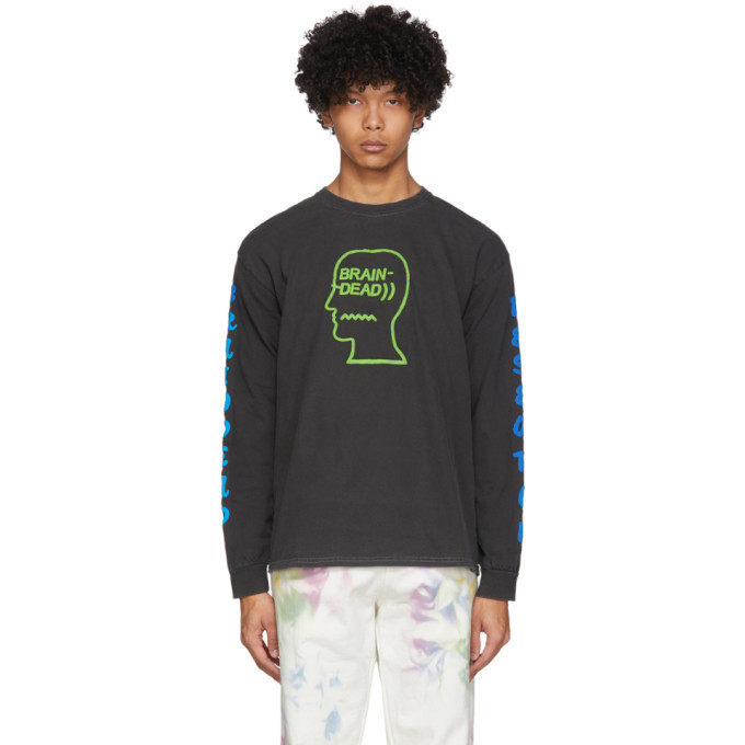 Photo: Brain Dead Black Vehicle Long Sleeve T-Shirt