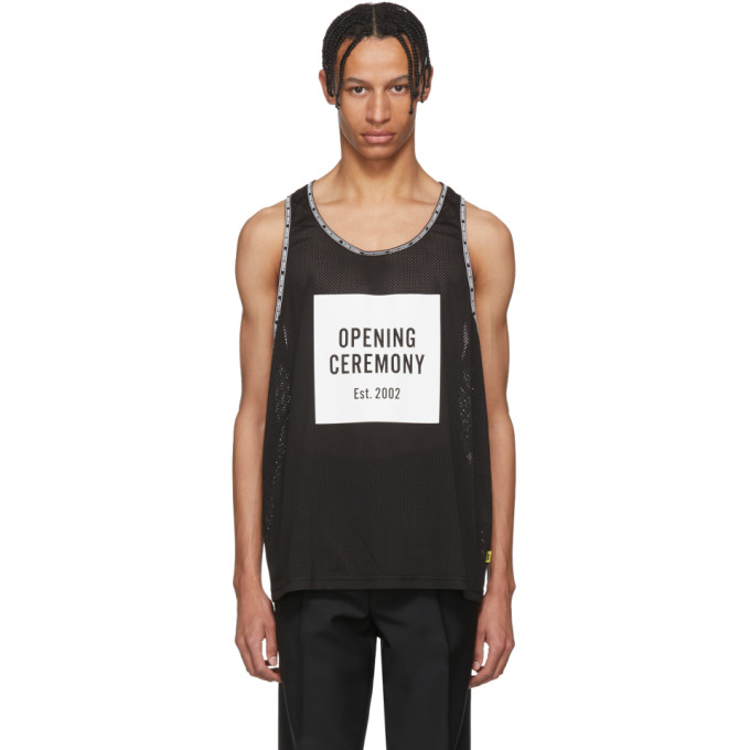 Photo: Opening Ceremony Black Limited Edition Mesh Logo Box Tank Top