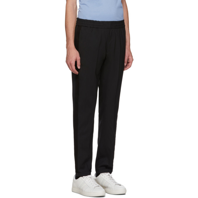 PS by Paul Smith Black Drawcord Trousers