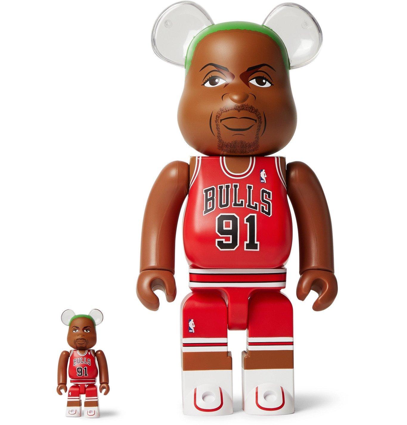 Photo: BE@RBRICK - Dennis Rodman (Chicago Bulls) 100% & 400% Printed Figurine Set - Multi