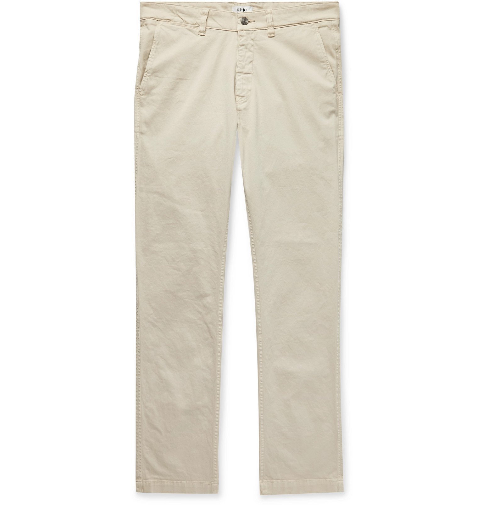 Photo: NN07 - Marco Slim-Fit Stretch-Cotton Twill Chinos - Neutrals