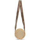 Stella McCartney Beige Small Woven Logo Circle Bag